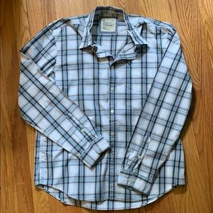 American Eagle Casual Plaid Button Down Size large